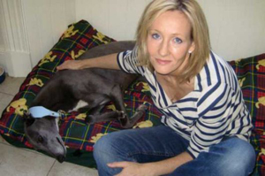 Joanne Rowling adopted a Greyhound